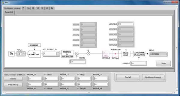 Image of Analog Devices EVAL-ADE9078EBZ evaluation kit software